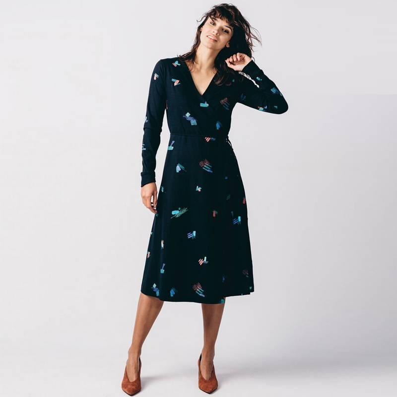SKFK - Vestido de Algodón Midi Mujer