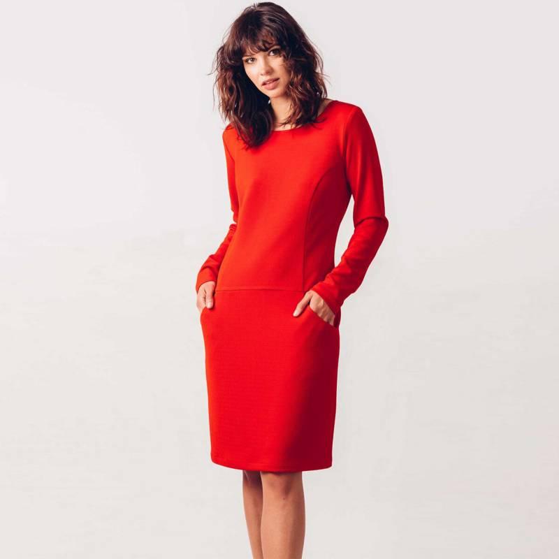 SKFK - Vestido Midi Mujer