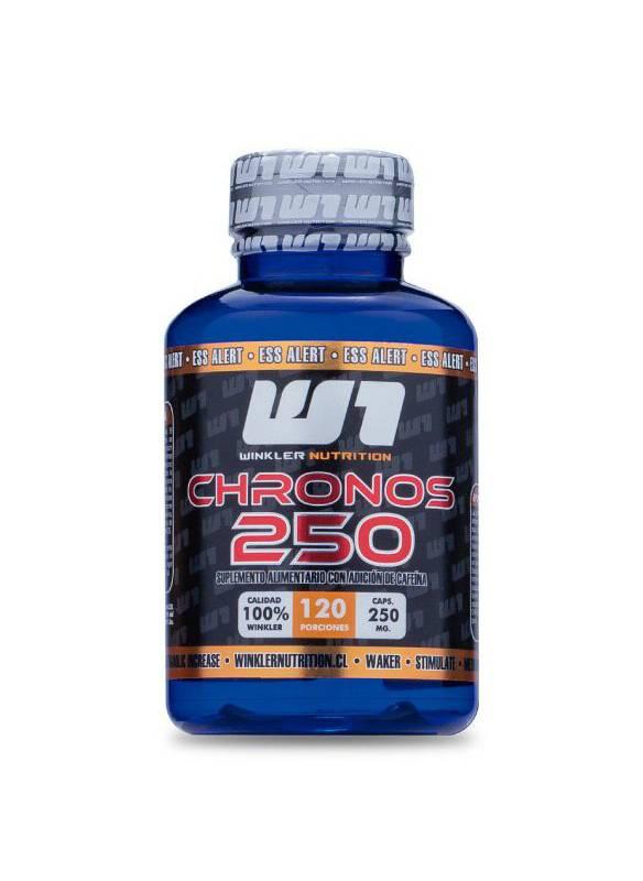 WINKLER NUTRITION - Cafeina Anhidra Chronos 100% 250 Mg 120 Capsulas