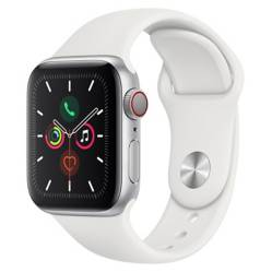 Apple - Apple Watch Series 5 GPS Cellular Silver 40mm