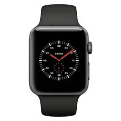 Apple - Apple Watch Series 3 (GPS + Cellular) 42 black