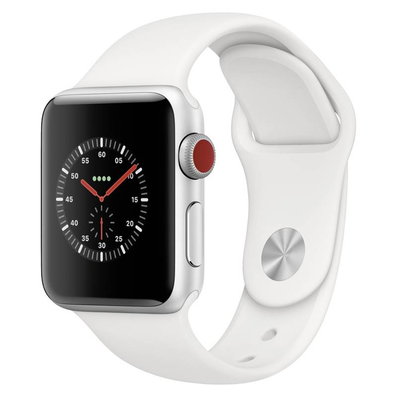 Apple - Apple Watch Series 3 GPS Cellular 38 silver