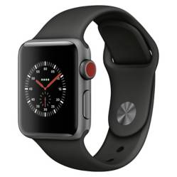 Apple - Apple Watch Series 3 (GPS + Cellular) 38 black