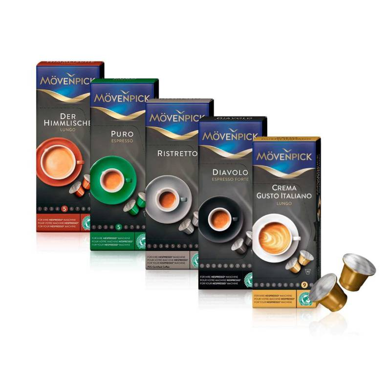 MOVENPICK - Pack 50 Cápsulas Café Mix Mvenpick para Nespresso