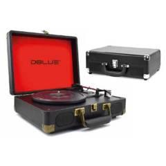 Dblue - Tocadiscos Retro 3 Velocidades con Bluetooth USB