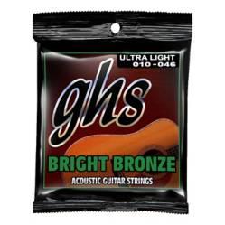 GHS - Cuerdas Guitarra Acústica Bronce Ghs 010-046