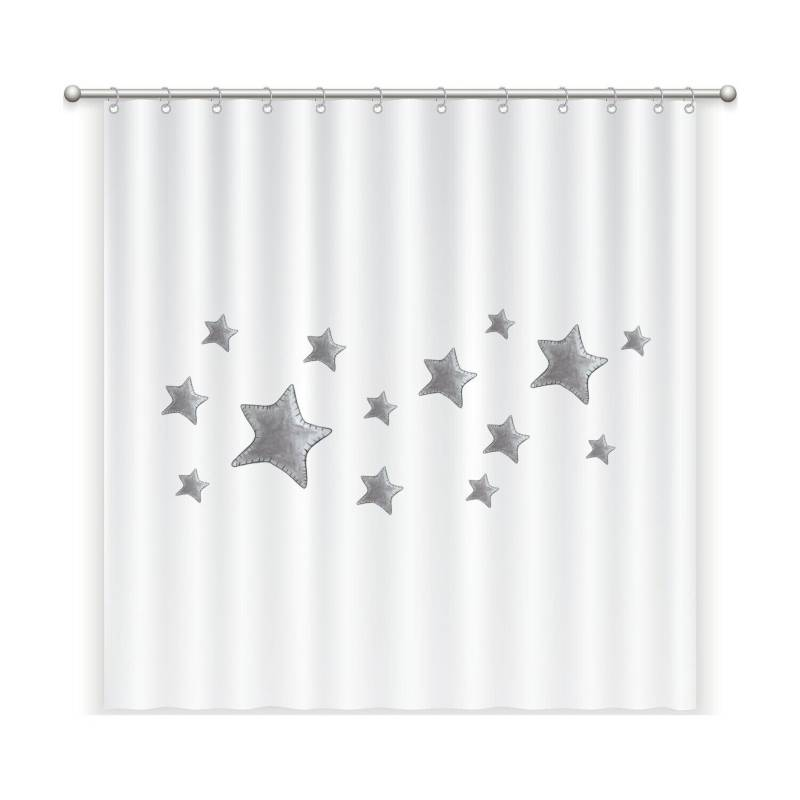 MARGARITA SCHEEL PARA CASA ALVARINHO - Cortina de Baño Estrellas Grises