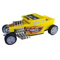 HOTWHEELS - Auto Juguete Amarillo Hot Wheels a Friccion 13 Cm