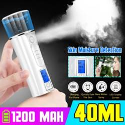 Generico - LED Nanos Mist Sprayer Facial Nebulizer Steamer