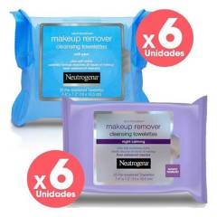 Neutrogena - Pack Toallitas Desmaquillantes Neutrogena X12Unids
