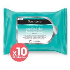 Neutrogena - Pack Toallitas Purified Skin X10 Unids