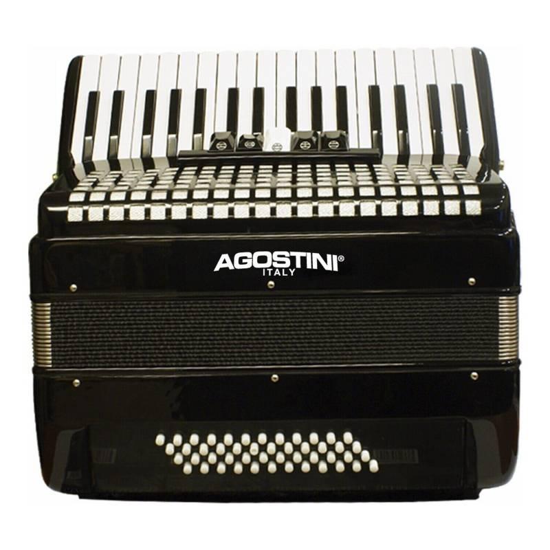 AGOSTINI - Acordeón 48 Bajos 5 Registros- Negro