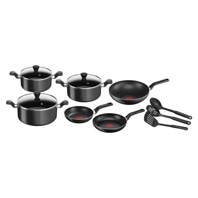 TEFAL - Bateria  12 Piezas Super Cook Black