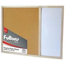 FULTONS - Pizarra Mixta Mural 45X60 cm Marco de Madera