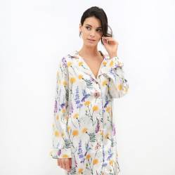 Lounge - Camisa Dormir Mujer Colibrí