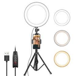 NEEWER - Selfie Ring Light w Tripod CellPhone Holder