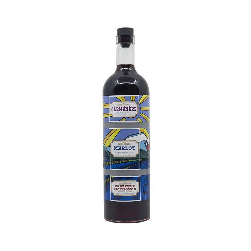 VIÑA CORRAL VICTORIA - Botella Triple Vino Merlot Carmenere Y Cabernet
