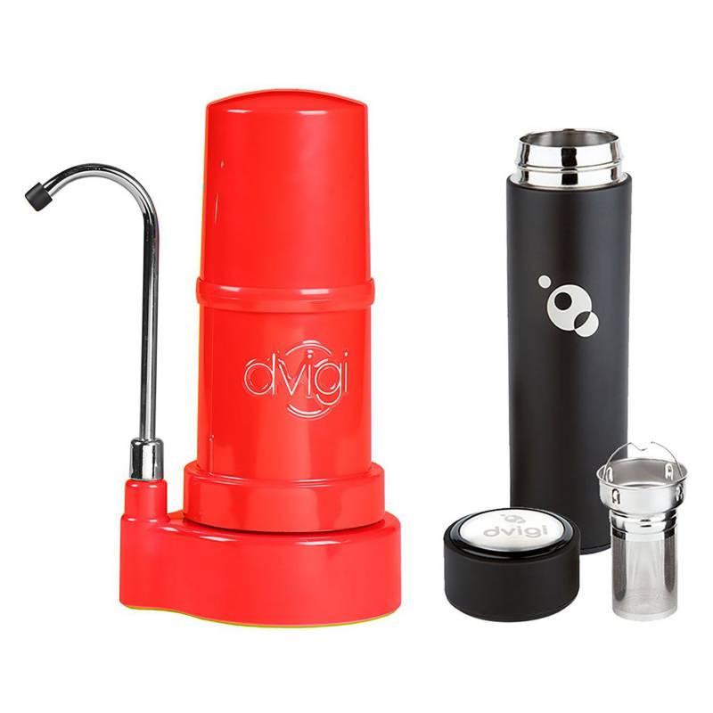 DVIGI - Filtro Purificador De Agua Classic Rojo Más Magnum