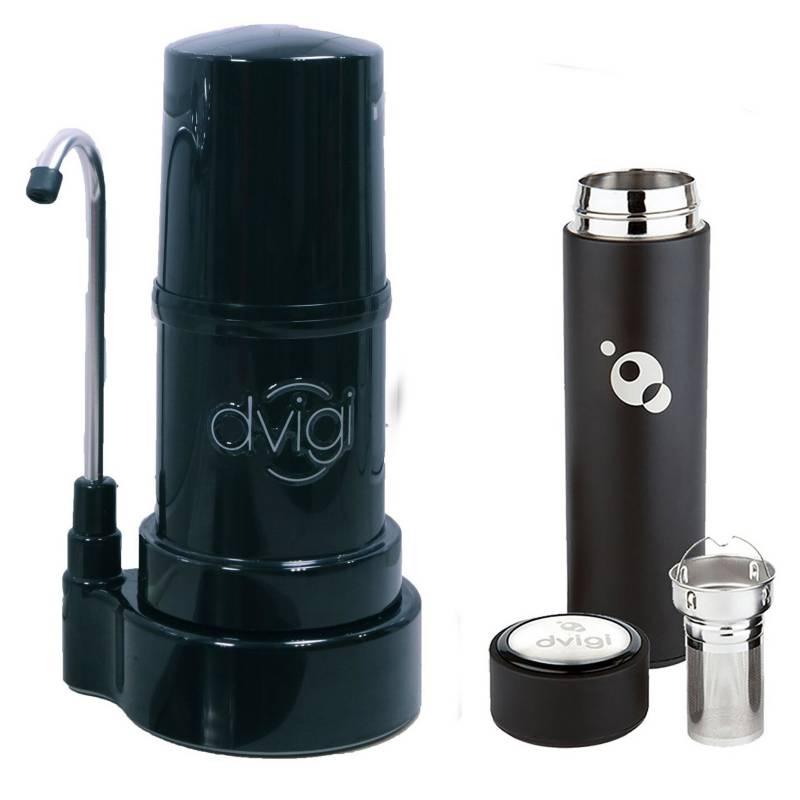 DVIGI - Filtro Purificador De Agua Classic Negro Más Magnum