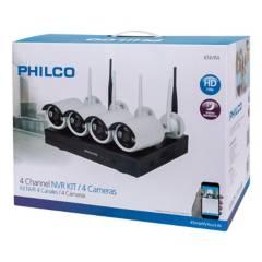 Philco - Kit DVR Philco 4 Canales  4 Cámaras