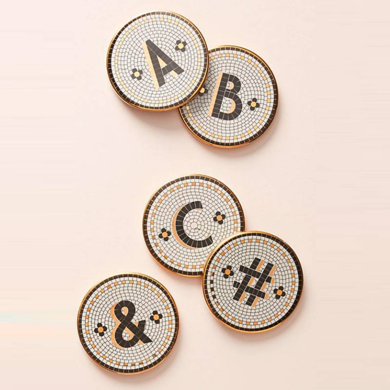 ANTHROPOLOGIE HOME - Posavasos Tile Monogram &
