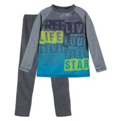 H2O WEAR - Pijama Niño Polar Bicolor Sublimado Gris