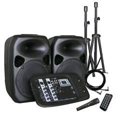 HYUNDAI - Combo Audio 2 X 10 200W  Atriles  Micrófono