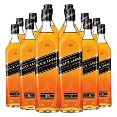 Johnnie Walker - 12 Whisky Johnnie Walker Black Label 750 Cc