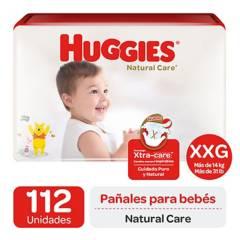 Huggies - Pañales Huggies Natural Care Pack 112 U. Talla Xxg