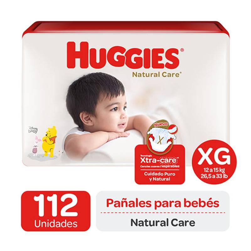 Huggies - Pañales Huggies Natural Care Pack 112 Und Talla Xg