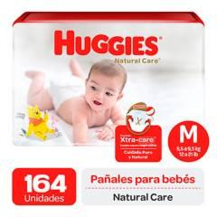 HUGGIES - Pañales Huggies Natural Care Pack 164 Und. Talla M