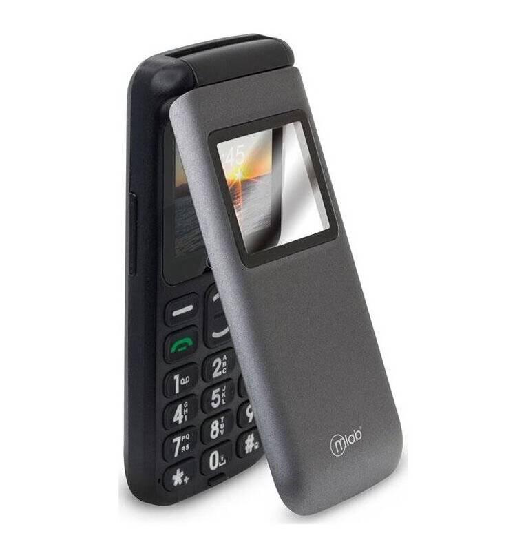 MLAB - Teléfono Senior Almeja Mlab 3G Sos Gris