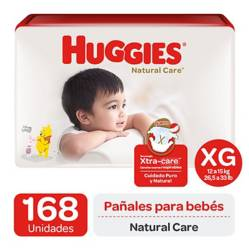 Huggies - Pañales Huggies Natural Care Pack 168 Un. Talla Xg