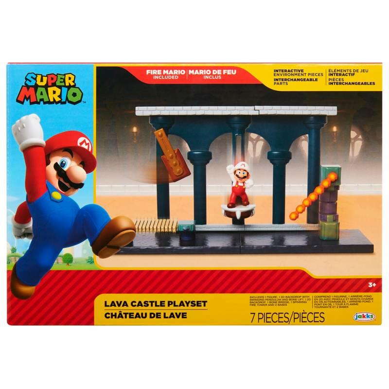 Nintendo Set Escena Batalla Castillo de Lava Super Mario