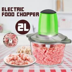 Generico - 2L Electric Meat Grinder Food Chopper Blender Home