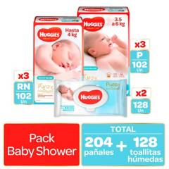 HUGGIES - Pañales Huggies Natural Care  -  Pack Baby Shower