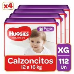 Huggies - Pants Huggies Natural Care Pack 112 Un. Talla Xg