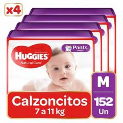 Huggies - Pants Huggies Natural Care  Pack 152 Un. Talla M