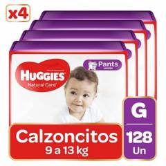 Huggies - Pants Huggies Natural Care Pack 128 Un. Talla G