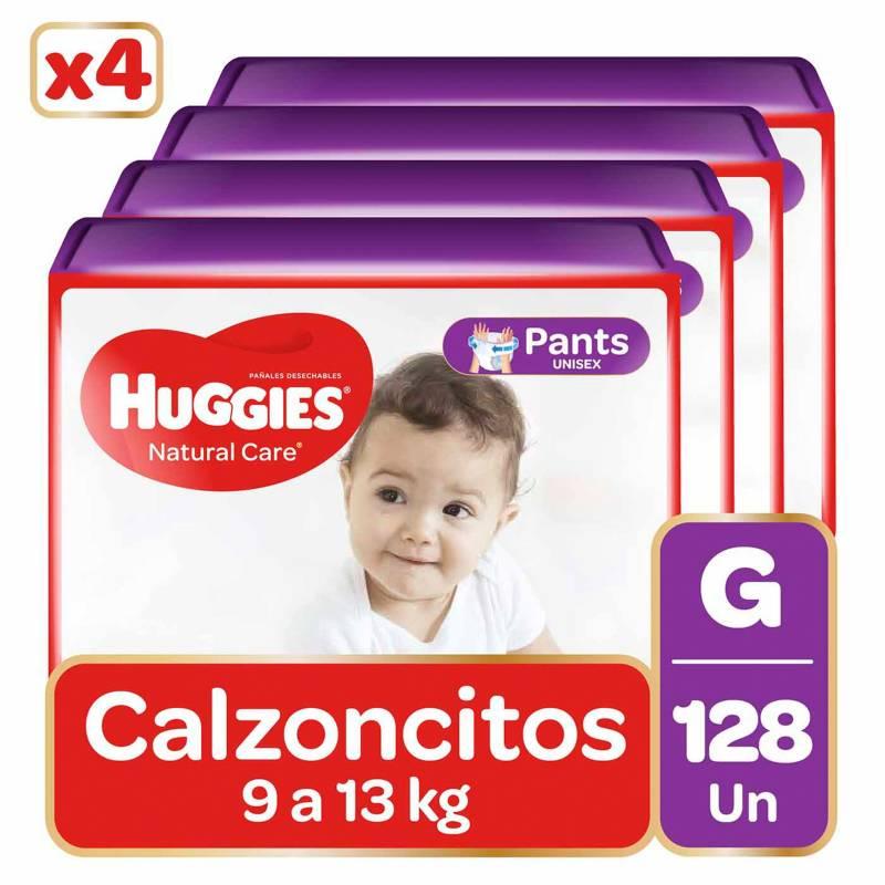 HUGGIES - Pants Huggies Natural Care Pack 128 Un. Talla G