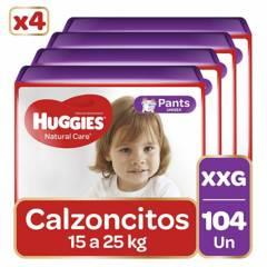 HUGGIES - Pants Huggies Natural Care Pack 104 Un. Talla Xxg