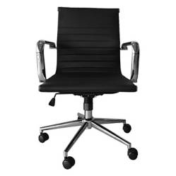 FORM OFFICE - Silla Oficina Ejecutiva Bishop Media Negro