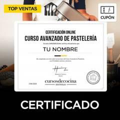 CURSOS DE COCINA - Cupón para Curso de Pastelería online, incluye panadería y repostería