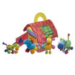 BIBA TOYS - Casa de Juguete Suave para Bebes con 4 Figuras