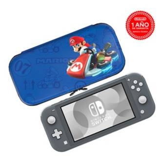 NINTENDO<BR>BUNDLE CONSOLA NINTENDO SWITCH LITE GREY + CASE MARIO KART
