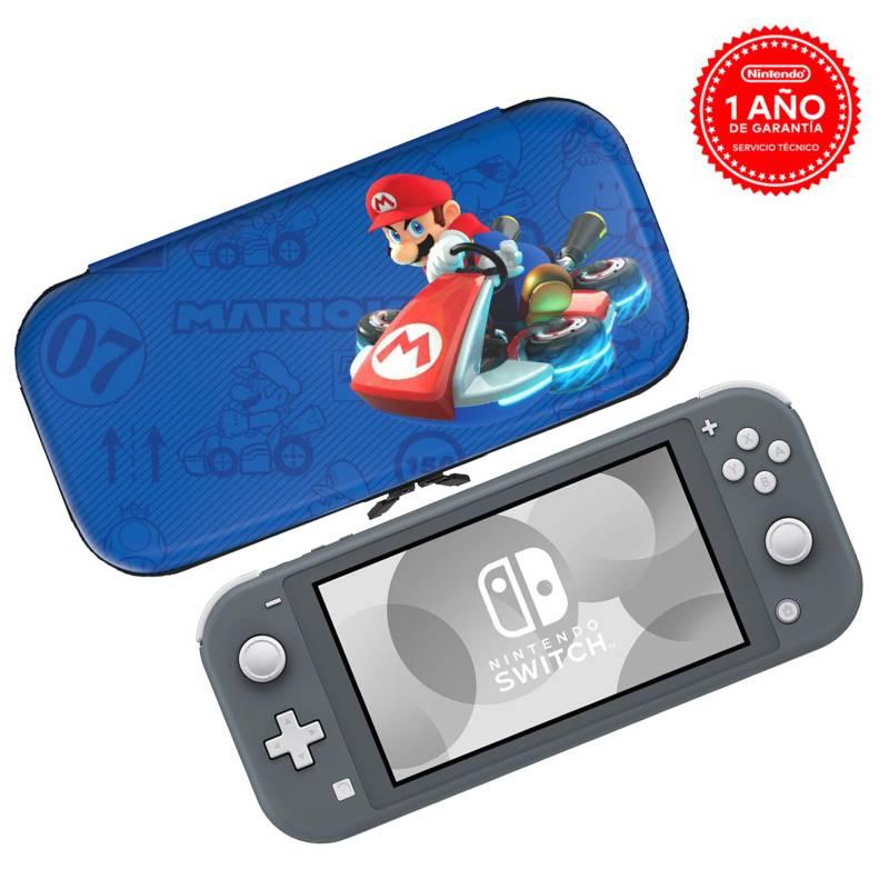 Nintendo - Bundle Consola Nintendo Switch Lite Grey + CASE MARIO KART