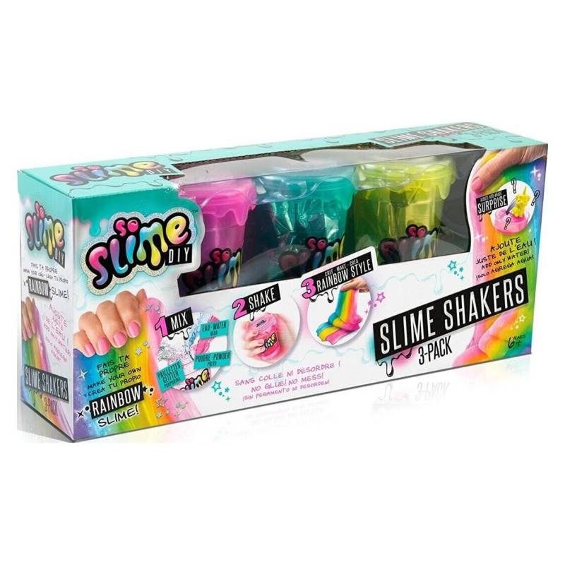 CANAL TOYS - So Slime Diy - Rainbow - Slime Shakers - 3 Pack