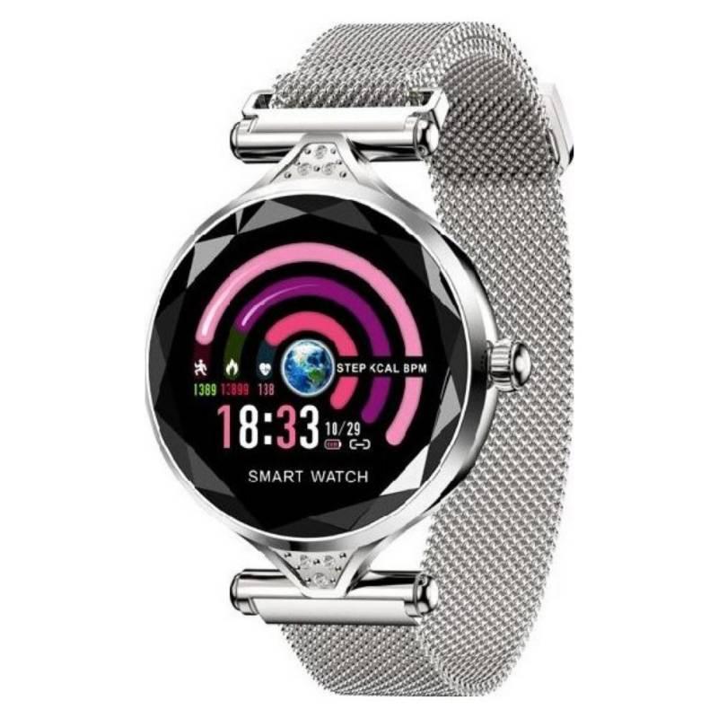 COMPRAPO - Reloj Smartwatch Para Mujer Luxury H1 Plateado