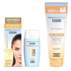 ISDIN - Pack Fotoprotector Fusion Water 50ml + Gel Cream 250ml