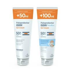 ISDIN - Pack Fotoproteccion Corporal Gel Cream Adulto + Gel Cream Pediatrics Spf50+